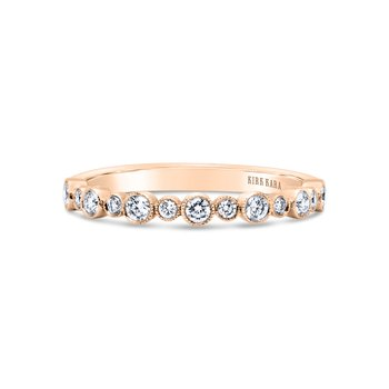Modern Bubble Milgrain Diamond Wedding Band