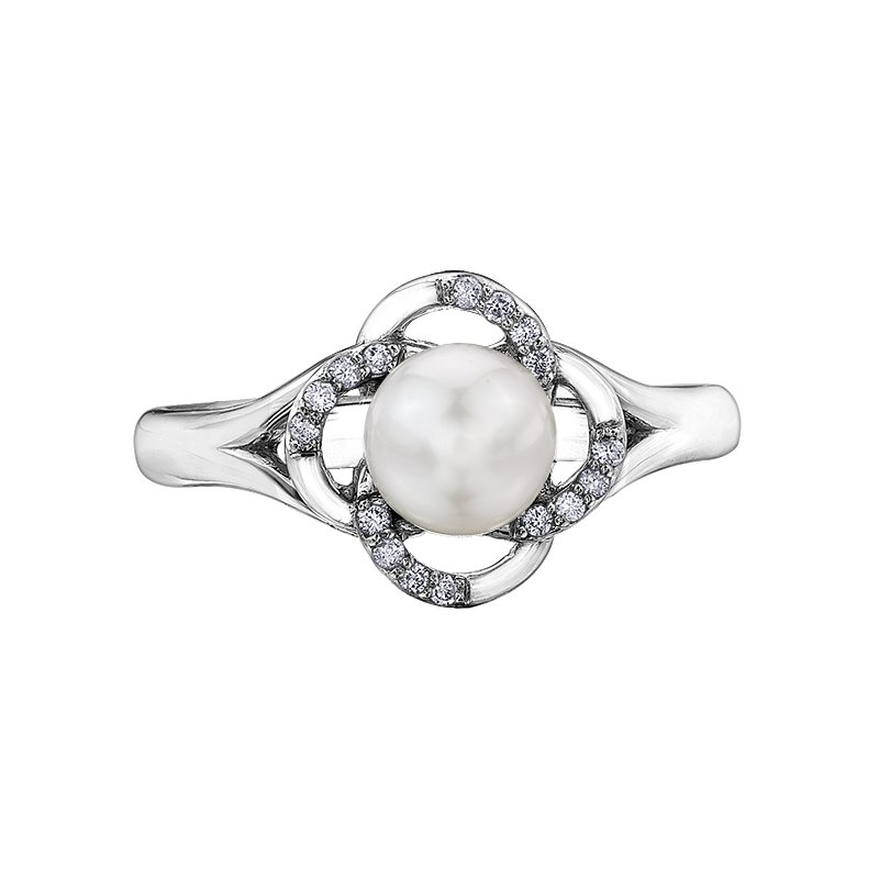 Diamond Days Pearls Ladies Ring