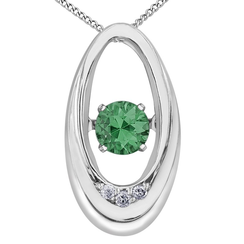 Diamond Wishes Emerald Pendant