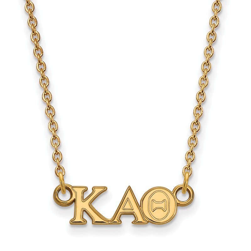 Greek Life Gold-Plated Sterling Silver Kappa Alpha Theta Greek Life Necklace