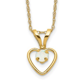 14k Madi K 3mm Opal Heart Necklace