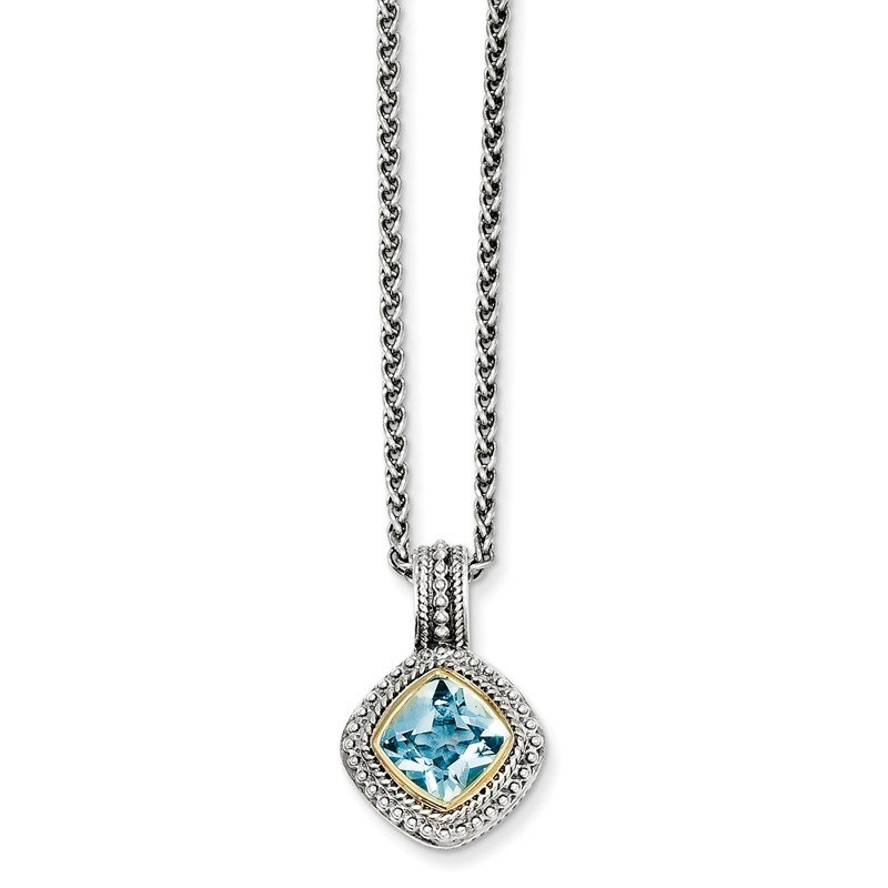 Shey Couture Sterling Silver w/14k Blue Topaz Necklace