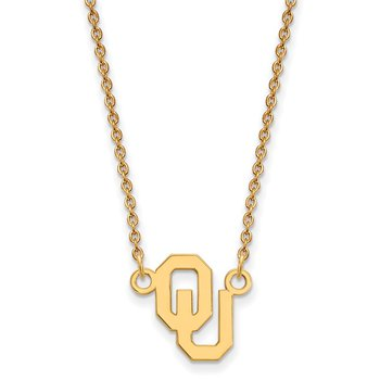 Gold-Plated Sterling Silver University of Oklahoma NCAA Necklace