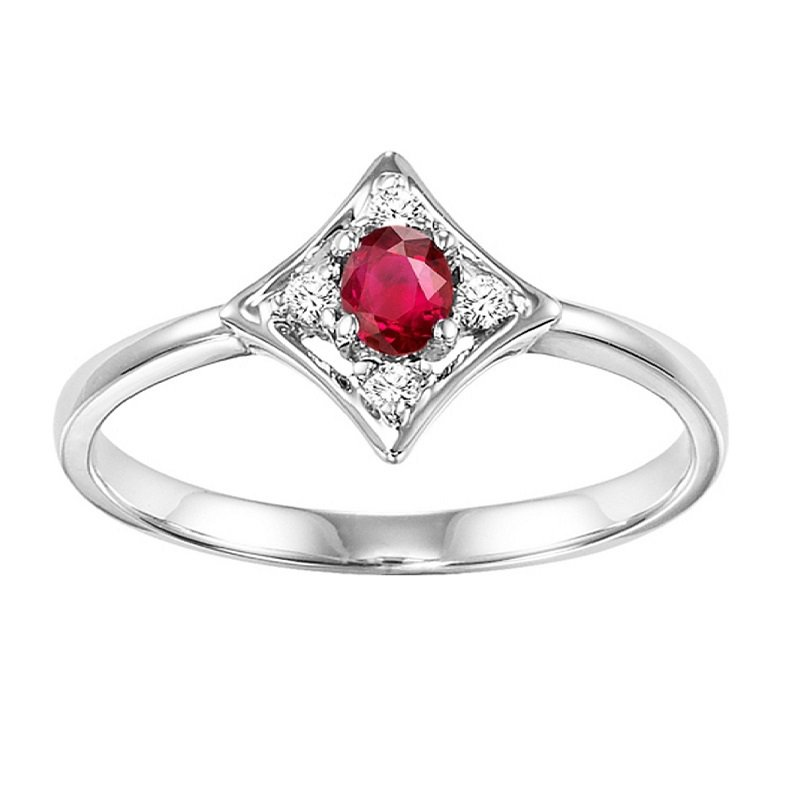 Mixables 14K Ruby & Diamond Ring