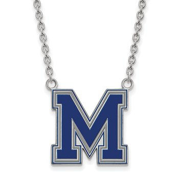 Sterling Silver University of Memphis NCAA Necklace