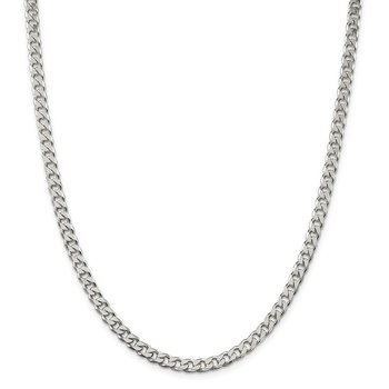 Sterling Silver Polished 5mm Curb Chain