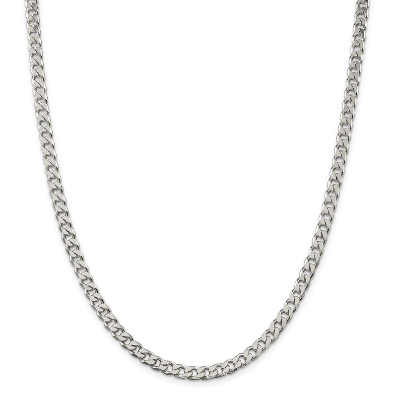 Quality Gold Sterling Silver Polished 5mm Curb Chain