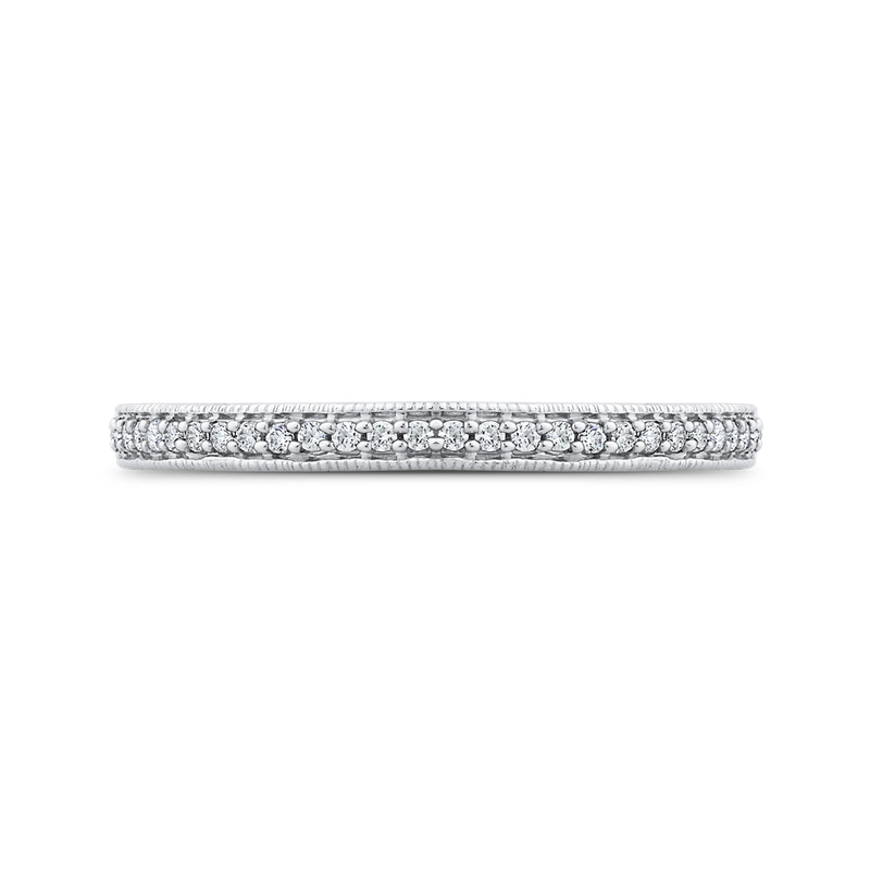 Essentials 1/5 ct Round Diamond Half Eternity Band Fashion Ring In 10K White Gold