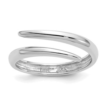 14k White Gold Bypass Ring