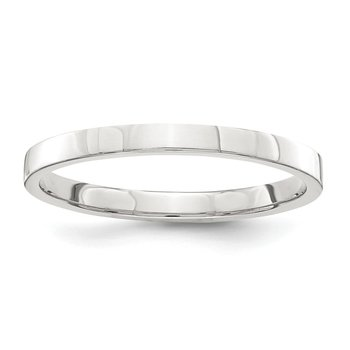 Sterling Silver 2mm Flat Size 10 Band
