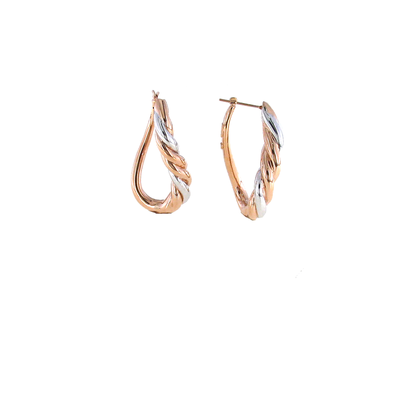 Roberto Coin 18Kt Gold Twisted Oval Hoops