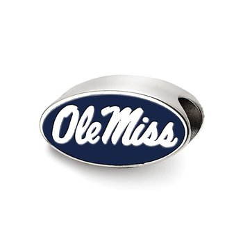 Sterling Silver University of Mississippi NCAA Bead