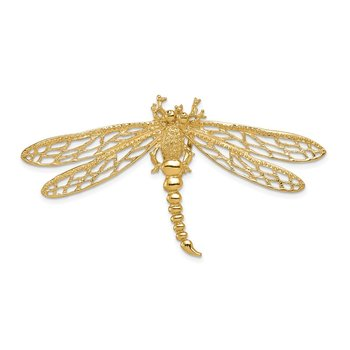 14k Cut-out Dragonfly Slide