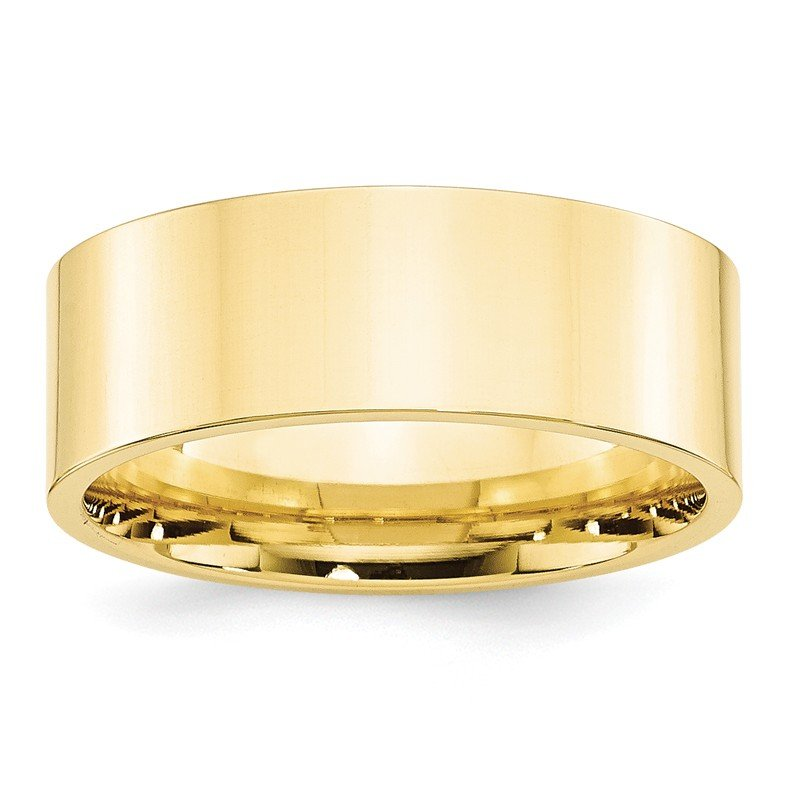 Quality Gold 10KY 8mm Standard Flat Comfort Fit Band Size 10