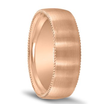 Novell Men's Wedding Band N16720 with Coin Edges