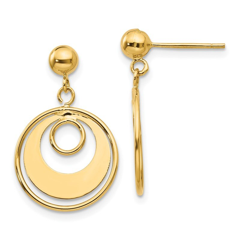 Quality Gold 14k Circle Post Earrings