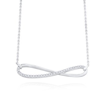 14K Gold and Diamond Infinity Necklace