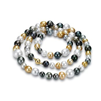 Royal Cocktail Multicolor South Sea & Tahitian Pearl Strand Necklace