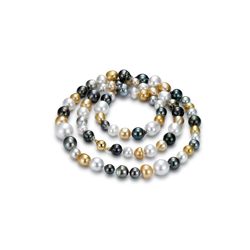 Mastoloni Pearls Royal Cocktail Multicolor South Sea & Tahitian Pearl Strand Necklace