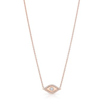 Rose Gold Piety Evil Eye Necklace