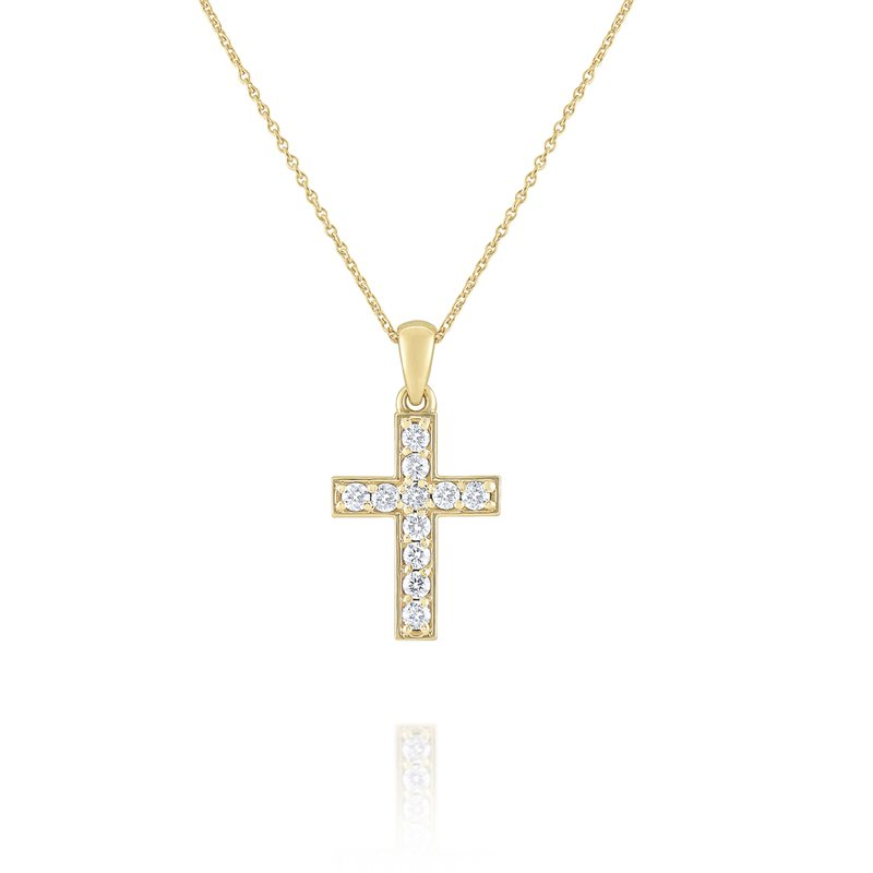 KC Designs Diamond Cross Pendant Set in 14 Kt. Gold