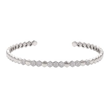 14K Flexible Diamond Cuff 0.31C