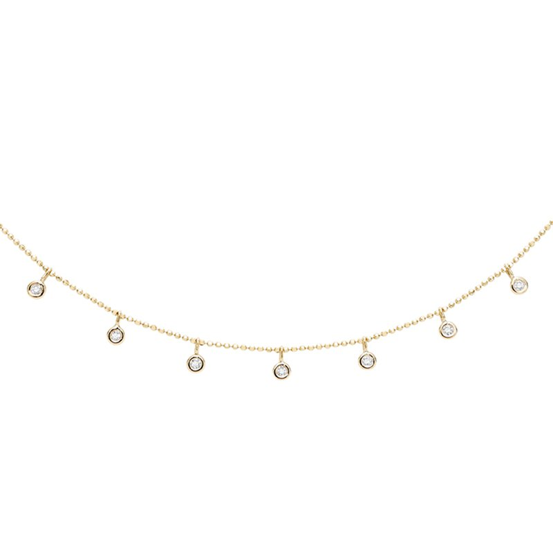 KC Designs Floating Round Diamond Station Necklace Set in 14 kt. Gold