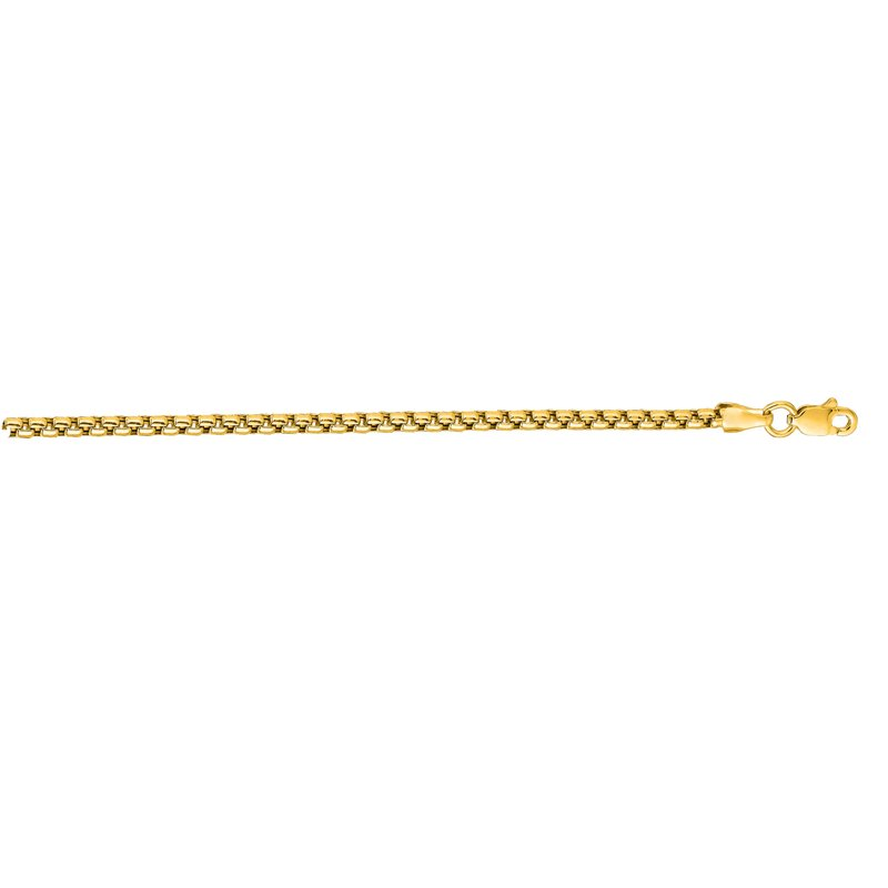 Royal Chain 14K Gold 2.4mm Lite Round Box Chain
