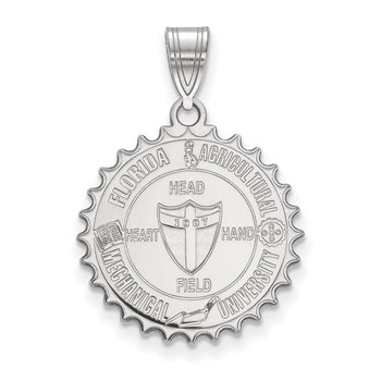Sterling Silver Florida A&M University NCAA Pendant