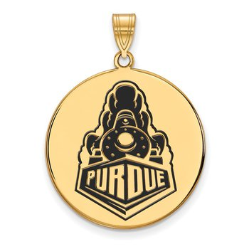 Gold-Plated Sterling Silver Purdue University NCAA Pendant