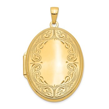 14k 31mm Oval Scroll Locket