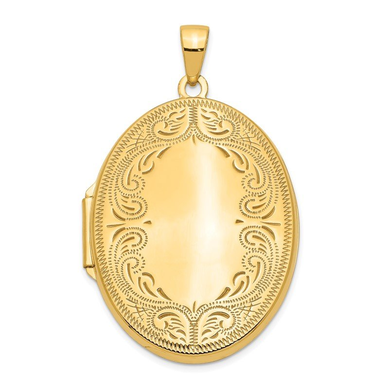 Quality Gold 14k 31mm Oval Scroll Locket