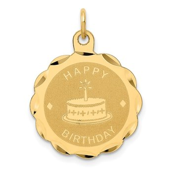 14K HAPPY BIRTHDAY Charm