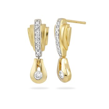14K YG Diamond All Purpose Ear-rings