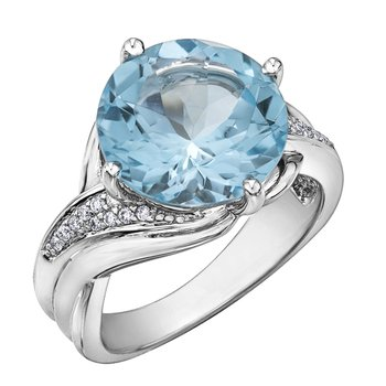 Sky Blue Topaz Ladies Ring