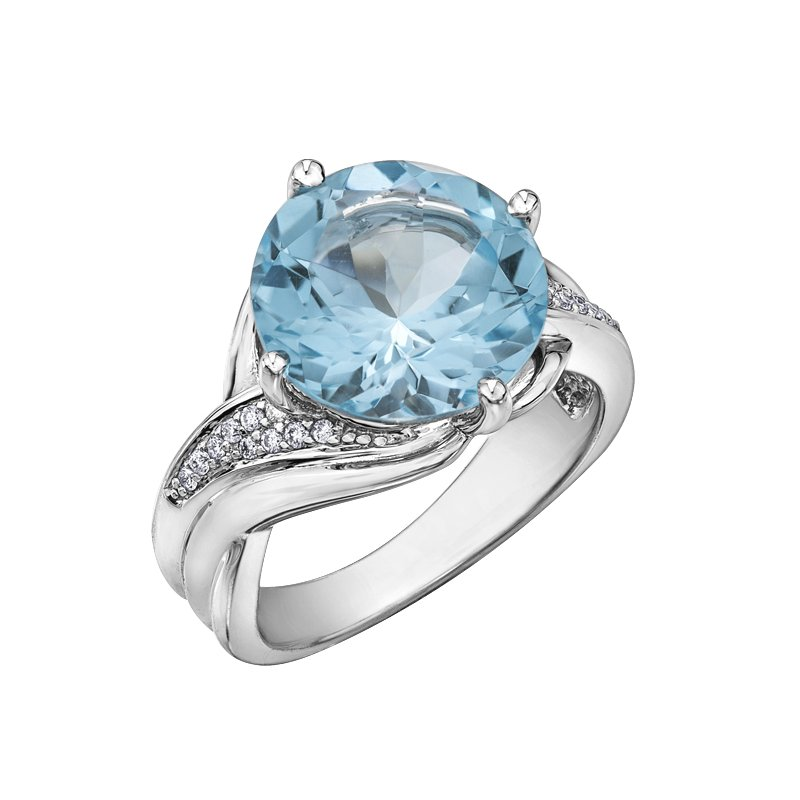 Diamond Days Sky Blue Topaz Ladies Ring