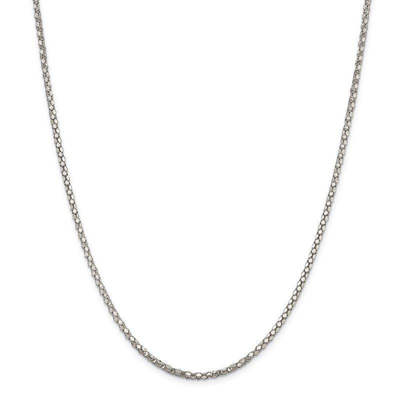 Quality Gold Sterling Silver 2.5mm Popcorn Chain
