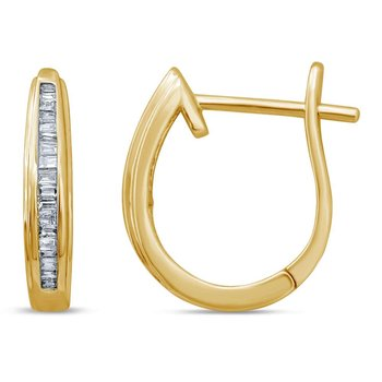 10K 0.20Ct Diamond Earring
