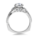 Valina Diamond Engagement Ring Mounting in 14K White/Rose Gold (.31 ct. tw.)