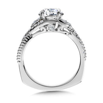 Diamond Engagement Ring Mounting in 14K White/Rose Gold (.31 ct. tw.)