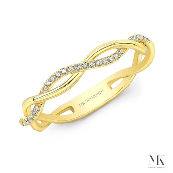 Yellow Gold Braided Stackable Band