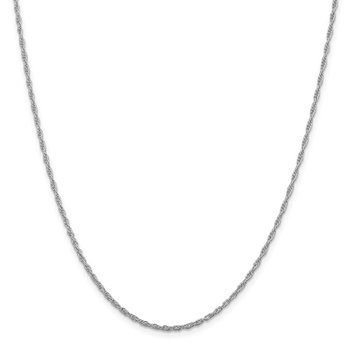 Sterling Silver Rhodium-plated 2mm Loose Rope Chain