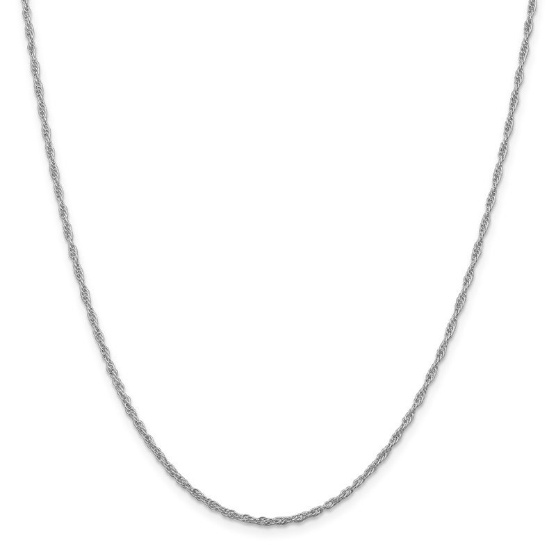 Quality Gold Sterling Silver Rhodium-plated 2mm Loose Rope Chain