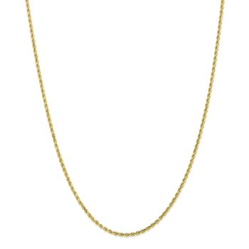 10k 2mm Diamond-cut Rope Chain