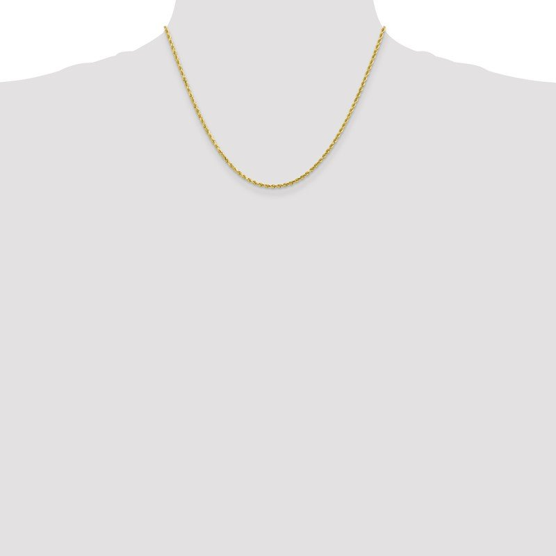 Quality Gold 10k 2mm Diamond-cut Rope Chain