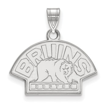 Sterling Silver Boston Bruins NHL Pendant
