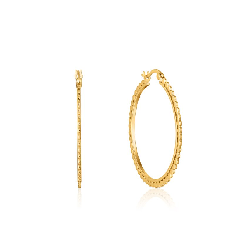 Ania Haie Flat Beaded Hoop Earrings