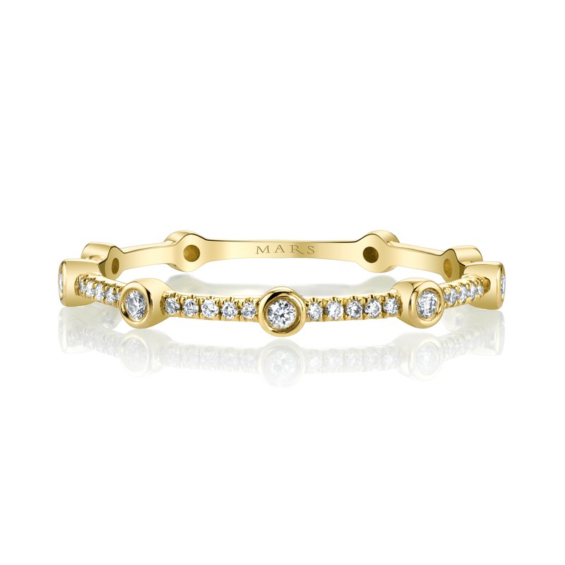MARS Jewelry MARS 27265 Stackable Ring. 0.10 Ctw.