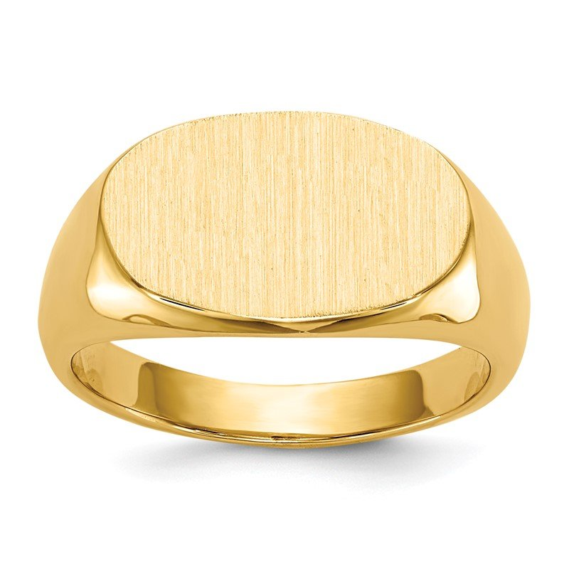Quality Gold 14k 9.5x15.0mm Closed Back Signet Ring
