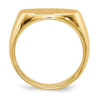 14k 9.5x15.0mm Closed Back Signet Ring